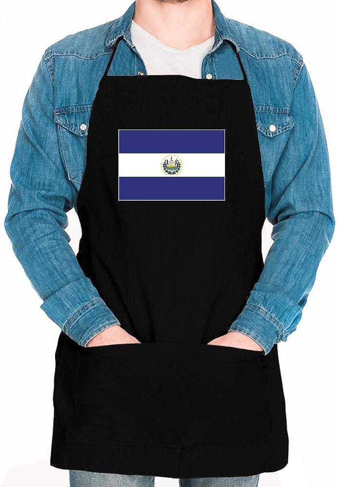 Idakoos El Salvador Flag Rectangular Apron