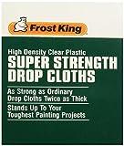 Frost King P470 Super Strength High Density Drop Cloths, 9' x 12' x .47 mil, Clear