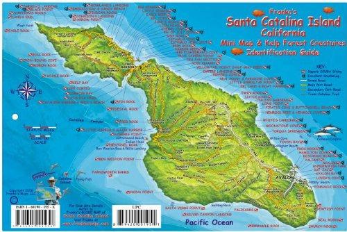 Santa Catalina Island Dive Map & Kelp Forest Creatures Guide Franko Maps Laminated Fish ()
