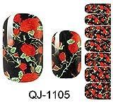 1-Sheet Heavenly Popular Fashion New Nails Art Sticker Pedicure Wraps Self Adhesive Waterproof Kit Color Style QJ-1105