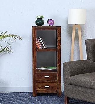 SARSWATI HANDICRAFT Pre-Assemble Solid Wood 2 Drawr Table for Living Room Provincial Teak Finish
