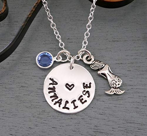 Silver Mermaid Name Necklace by JEWLR
