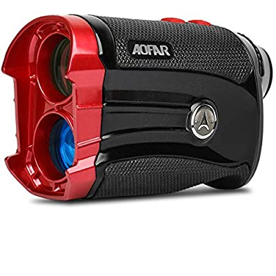 AOFAR Golf Rangefinder with Slope 600 Yards Flag Locking with Pulse Vibration Laser Range Finder 6X 25mm Waterproof, Carrying Case, Free Battery, Gift Packaging from AOFAR