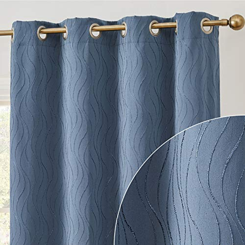 HLC.ME Camden 100% Complete Full Blackout Thermal Insulated Window Curtain Grommet Panel for Sliding Glass Patio Doors - Energy Efficient & Noise Reducing - (100