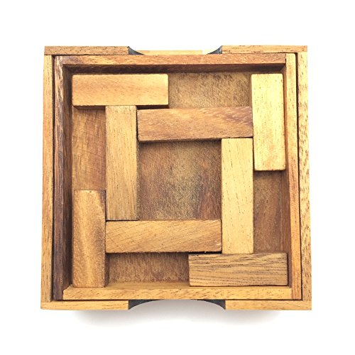 BRAIN GAMES 4 T Brainteasers Wooden Puzzle