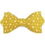 186d8bd8d4212 Le Coq en Pap' Noeud papillon jaune moutarde japonais saki: Amazon ...