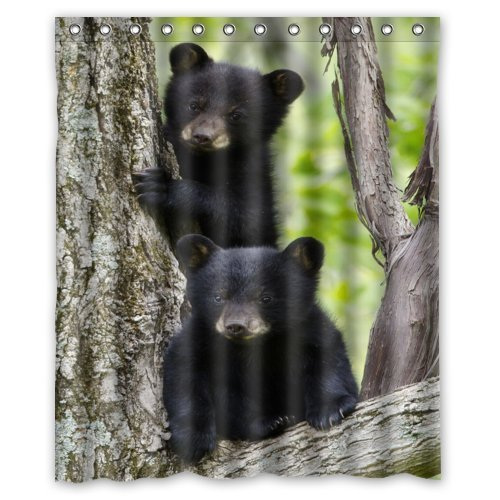 Bear Shower Curtains Kritters In The Mailbox Bear