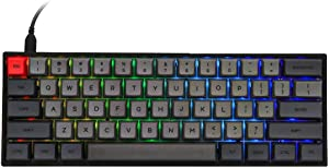 EPOMAKER SKYLOONG SK61 61 Keys Hot Swappable Mechanical Keyboard with RGB Backlit, NKRO, Water-Resistant, Type-C Cable for Win/Mac/Gaming (Gateron Optical Yellow, Black)
