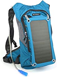 ECEEN Solar Hydration Backpack 7 Watts Solar Phone Charger with 2 Liters Bladder for iPhone Samsung LG Smart P