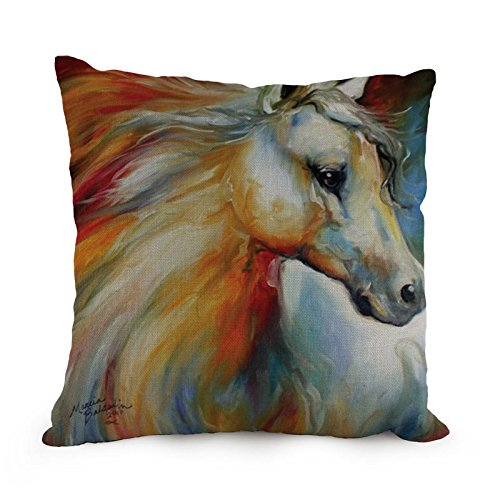 Beautifulseason Horse Throw Pillow Case 18 X 18 Inches / 45 By 45 Cm Best Choice For Club,coffee House,deck Chair,kids,father,wife With Twin Sides