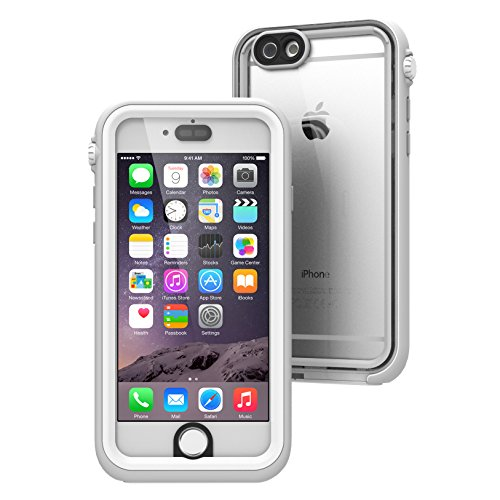 iPhone 6 Waterproof Case, Shock Proof, Drop Proof by Catalyst for Apple iPhone 6 with High Touch Sensitivity ID (White & Mist Gray)