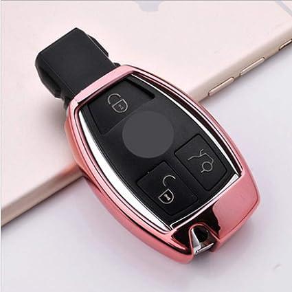 ontto for Mercedes-Benz Key Cover Case Keyless Smart Car Key Holder Remote  Control Key Fob Jacket TPU Key Shell for Benz CESM CLS CLK GLK GL Class
