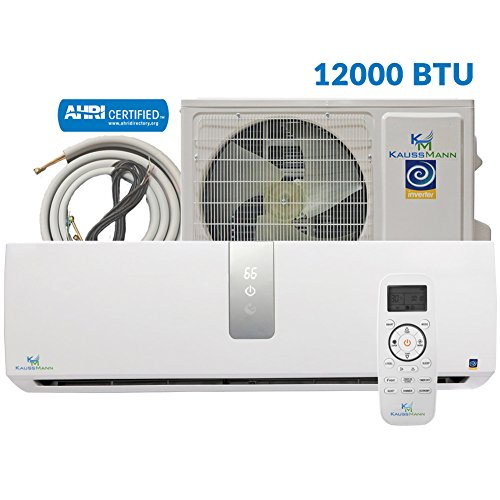 12000 Btu (1 Ton) Inverter Ductless Mini Split, Air Conditioner, Heat Pump, Heating, Cooling, Dehumidification, Ventilation. Comes with 15 Feet Installation Kit. 110~120 Vac