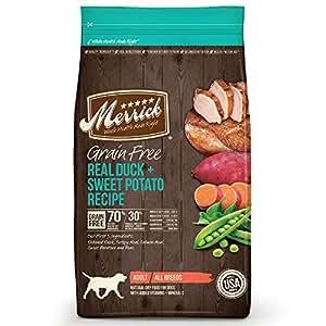 Merrick Grain Free Real Duck & Sweet Potato Dry Dog Food, 25 lb.