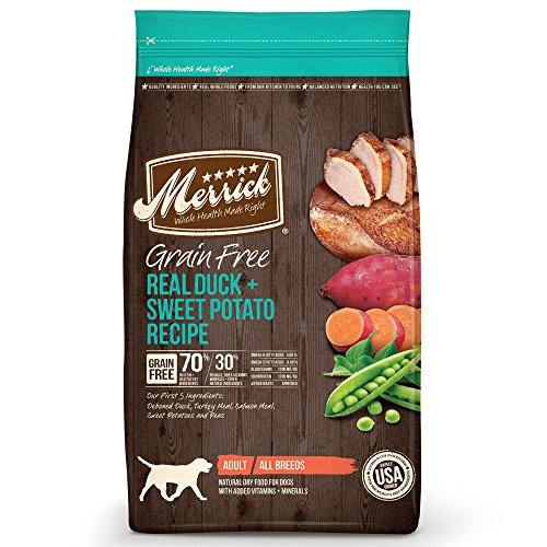Merrick Grain Free Real Duck + Sweet Potato Recipe Dry Dog Food, 25-Pound