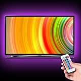 LED Light Stripes, Boomile USB 2M LED Lights Strips Kit Waterproof RGB LED Strip for 39 Inch TV Home Theater PC Monitor Home & Kitchen Decoration with Remote Control