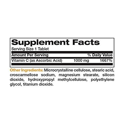 Bronson Vitamin C 1000 mg Premium Non GMO Ascorbic Acid