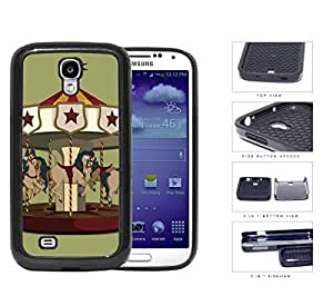 Horse Carousel Amusement Park Ride 2-Piece Dual Layer High Impact Rubber Silicone Cell Phone Case Samsung Galaxy S4 SIV I9500