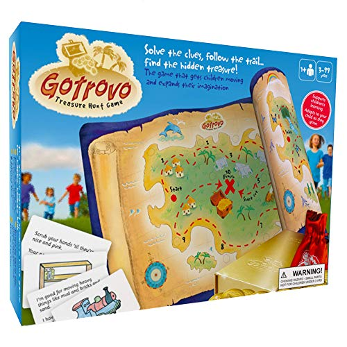 Gotrovo Treasure Hunt Game - Fun Scavenger Hunt for Kids of All Ages - Versatile Indoor, Outdoor, Camping, Party Game - Play at Home, in The Garden Or Anywhere - Bonus Childrens Parties Ideas eBook