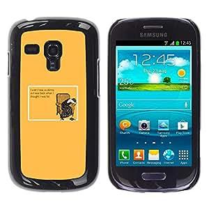 Caucho caso de Shell duro de la cubierta de accesorios de protección BY RAYDREAMMM - Samsung Galaxy S3 MINI NOT REGULAR! I8190 I8190N - Skinny Fat Diet Woman Funny Quote