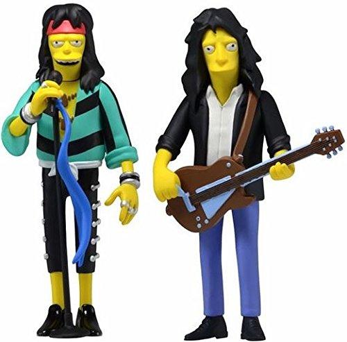 "Steven Tyler & Joe Perry Combo (Aerosmith) The Simpsons 25th Anniversary 5"" Action Figure Series 4 NECA"