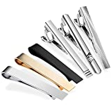 Zacro 6pcs Tie Clip Bar Pinch Necktie Premium Alloy,Suitable for Businessman