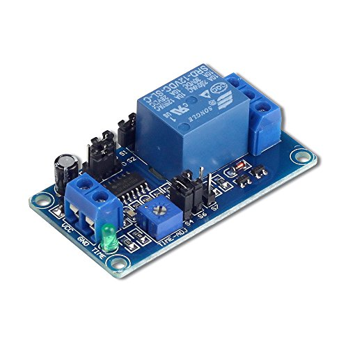 UCTRONICS DC 12V Time Delay Relay Module for Smart Home, Tachograph, GPS, PLC Control, Industrial Control, Electronic Experiment, Arduino Robot ()