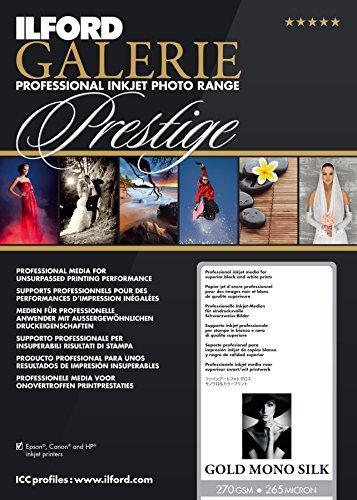 ILFORD 2002452 GALERIE Prestige Gold Mono Silk - 17 x 22 Inches, 25 - Gold Fiber Silk