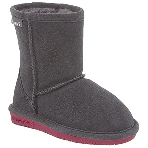 Bearpaw Emma 608Y Kids Boots,Charcoal/Pomberry,3