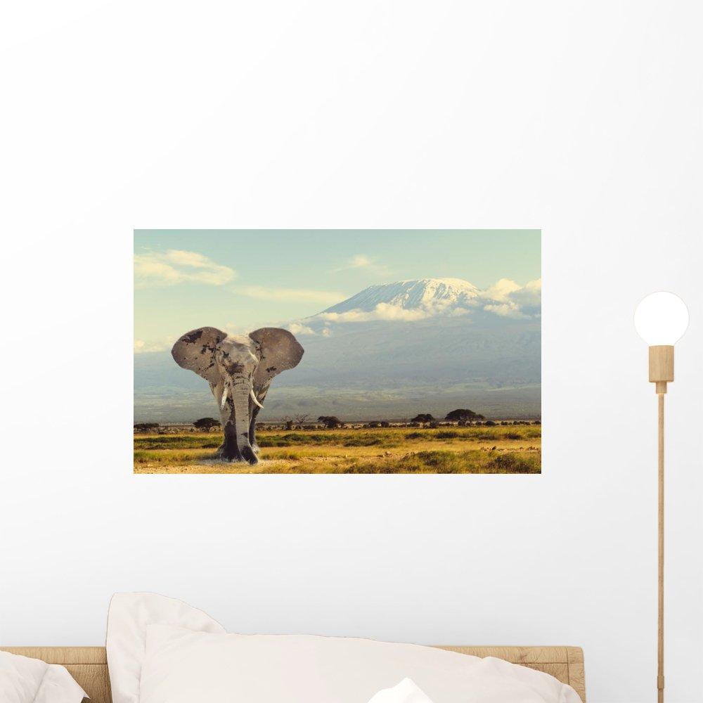 キリマンジャロアフリカゾウ壁壁画by Wallmonkeys Peel and Stickグラフィックwm361373 18