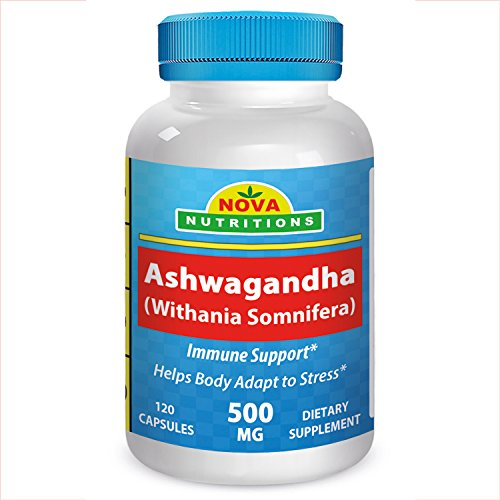 Ashwagandha 500 mg 120 Capsules by Nova Nutritions For Sale