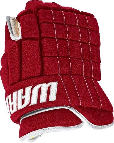 Warrior Junior Remix 2012 Hockey Glove, Red/White, 11-Inch - Red Ice Hockey Gloves