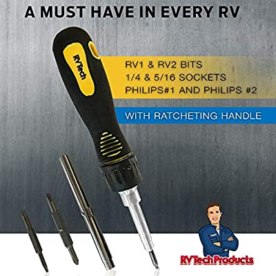 RV Tech Products- RV 6 in 1 Multi Tool-Camper Accessories for Inside & Outside-Basic Tool Kit: Automotive