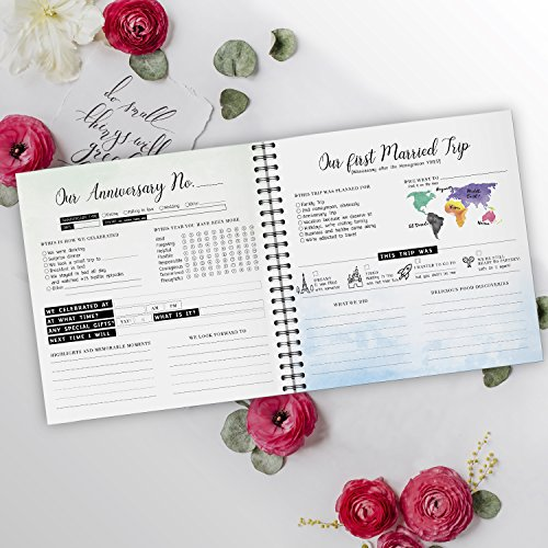 Pillow & Toast Our 1st Wedding Anniversary Journal: Memory Book & Photo Album Couples. Fill in Diary Proposal, Wedding Day Milestones. Bride Gift Ideas 2018! by Pillow & Toast (Image #6)