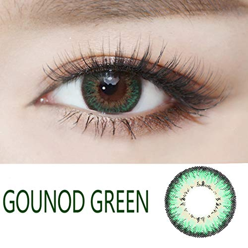 Multi-Color Cosplay Cute Charm and Attractive Fashion Eyes Lenses Eyes Makeup Cosmetic Eye Shadow(A Pair) (Green) ()
