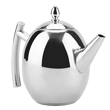 Tetera de acero inoxidable, té, café, caldera de agua, contenedor, con, malla extraíble, filtro(1500ML)