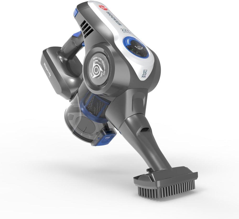 Hoover Rhapsody RA22PTG Aspiradora escoba sin cable, Cepillo pelo de mascota, Suelos duros y alfombras, Luces LED, Batería extraíble litio, 35 min, 0.7 litros, Azul: Hoover: Amazon.es: Hogar