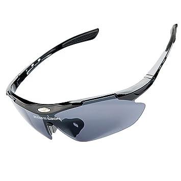 ROBESBON Protection 100% UV400 Lunettes de Soleil Sport Cyclisme Ski Conduite Moto Mod Pêche Incassables Lunettes de Vélo Cyclisme Unisex pour Femme Homme Courir Sports de Plein Air Blanc bVrf0