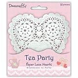 Deluxe centrini di carta con pizzo bianchi a forma di cuore 12,7cm x 30 cm(Cupcake wrappers e Tea Party)