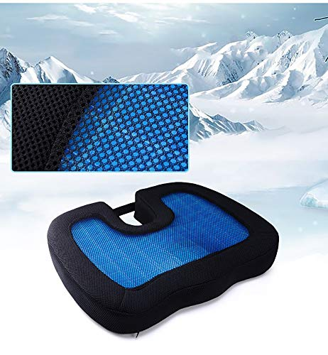 ZHANGZHIYUA Memory Seat Cushion/Back Cushion Combo, Gel Infused & Ventilated, Orthopedic Design. Perfect for Office Chair, Relieves Back, Coccyx, Sciatica,1 by ZHANGZHIYUA (Image #3)