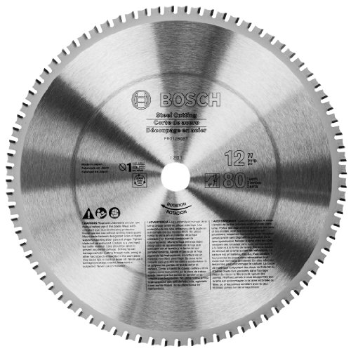 Bosch PRO1280St 12-Inch 80T Steel Cut Precision Series Saw Blade