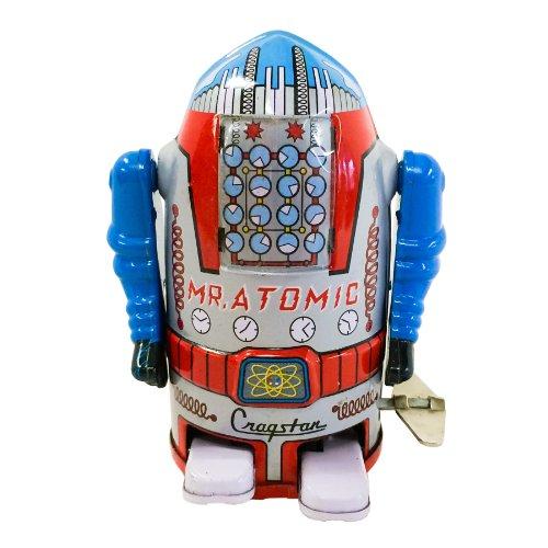Vintage Style Silver Mr Cragstan 4″ Atomic Robot