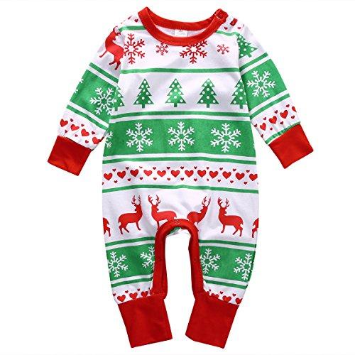 Sleeve Christmas Snowflake Reindeer Romper product image