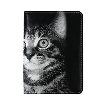 ALAZA Sugar Skull Day of the Dead Black PU Leather Passport Holder Cover Case Travel One Pocket