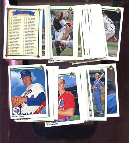- 1990 Upper Deck High Number Series Baseball Card Complete Set Nolan Ryan #734