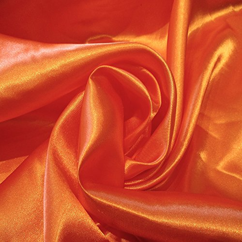 Perfect Orange 6 Charmuse Satin 100% Polyester 58 Inch Wide Order By the Yard JN00006 ()