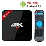 2018 Android 7.0 TV Box Q Plus 2GB 16GB ROM Octa Coure TV Box 4K Ultra-HD H265 Dual Band WiFi Bluetooth 4.1