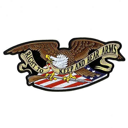 Hot Leathers, ARMED EAGLE, Right to Keep and Bear Arms, Iron-On / Saw-On Rayon PATCH - 5