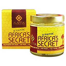 Alaffia Africa's Secret Multipurpose Skin Cream 8 100% FAIR TRADE: Feel good about how you are getting your products with 100% Certified Fair Trade Ingredients. WHOLE, NATURAL INGREDIENTS: This cream is a blend of pure, whole ingredients that give your skin the best moisturizing and protective benefits without any added emulsifiers, preservatives or scents. MULTIPURPOSE FOR EVERYONE: Ideal for really dry skin, environmental protection, as a night cream and for treating scars & skin discolorations.
