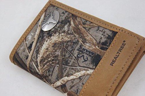 Texas Longhorns Logo Trifold Realtree Max-5 Camo /& Leather Wallet w// Concho NCAA
